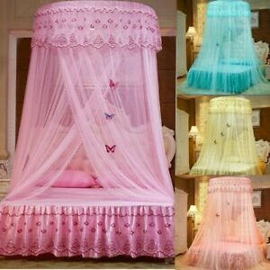 Princess-Round-Dome-Mosquito-Lace-Canopy-Hung-Bed-Insect-Nets-Curtain-Home-Decor