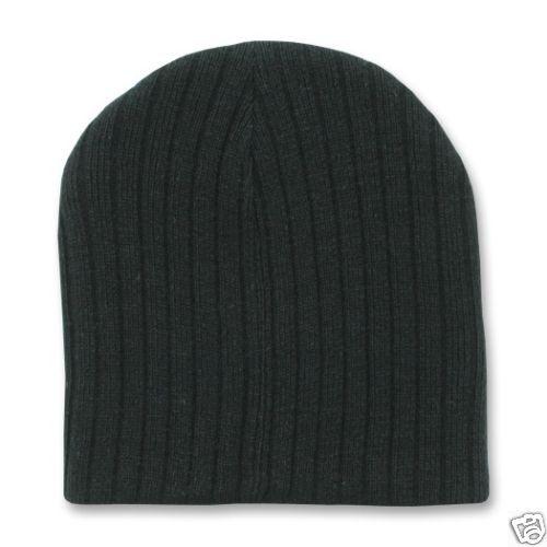 c63bcedf Black Cable Knit Short Beanie Ski Cap Winter Hat Cold Weather Skull Caps  Warm for sale online   eBay