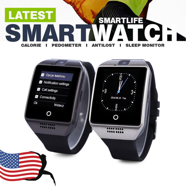 Q18 Bluetooth Smart Wrist Watch Pedometer/SIM/Camera/MP3/ For iOS Android Phone