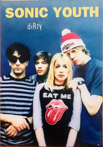Sonic Youth Dirty Original 1990's Promo Poster 23 X 33
