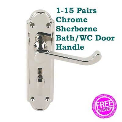 1-10 PAIRS Polished CHROME Door Knobs INTERIOR Handle Knobs FREE DELIVERY 30RL