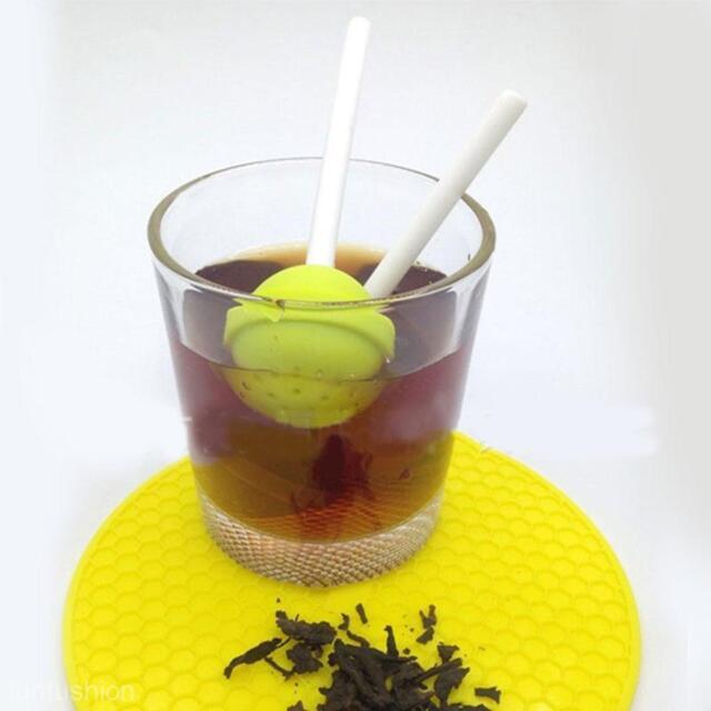 Safe Lollipop Silicone Tea Leaf Infuser Strainer Herbal Spice Filter Diffuser