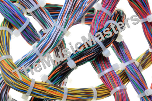 """200 Blue 6/"""" inch Wire Cable Zip Ties Nylon Tie Wraps 40lb USA Made Tiger Ties"""