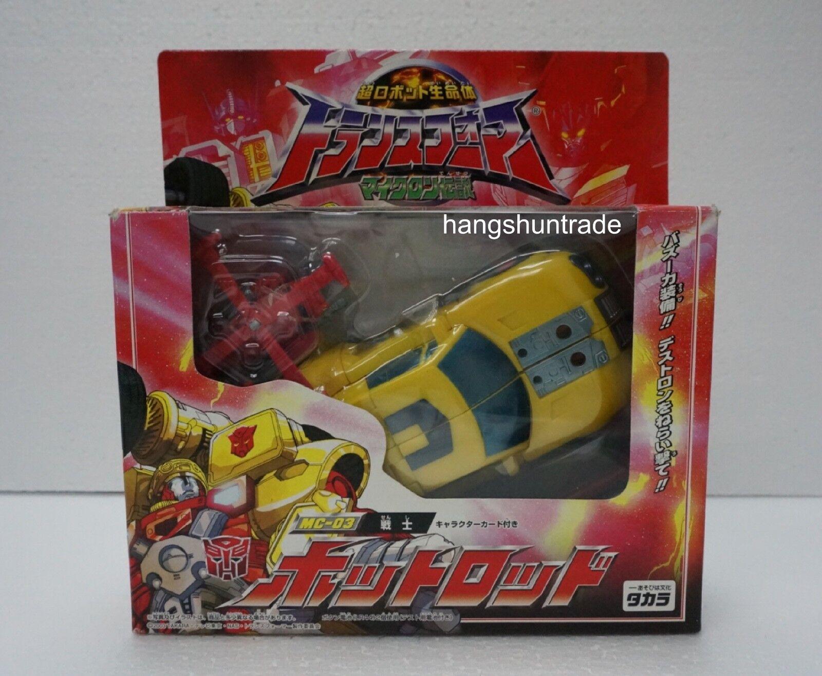 Takara Transformers Armada Micron MC-03 Hot Shot Rod with Jolt Figure