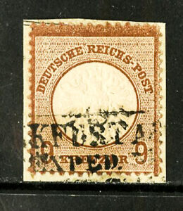 Germany-Stamps-25A-XF-Used-Scott-Value-500-00