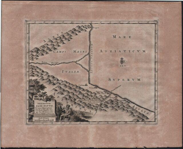 VANDER AA PIETER-DESCRIPTIO PADI FLUVII-FIUME PO-EMILIA ROMAGNA - MARCHE 1729