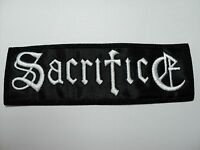 Sacrifice White Logo Embroidered Patch