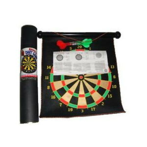 MAGNETIC DART BOARD MAT ROLLUP 6 DARTS DOUBLE SIDED DARTBOARD GAME TOY GIFT XMAS