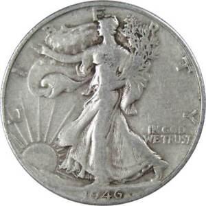 1946-D-50c-Liberty-Walking-Silver-Half-Dollar-US-Coin-Average-Circulated