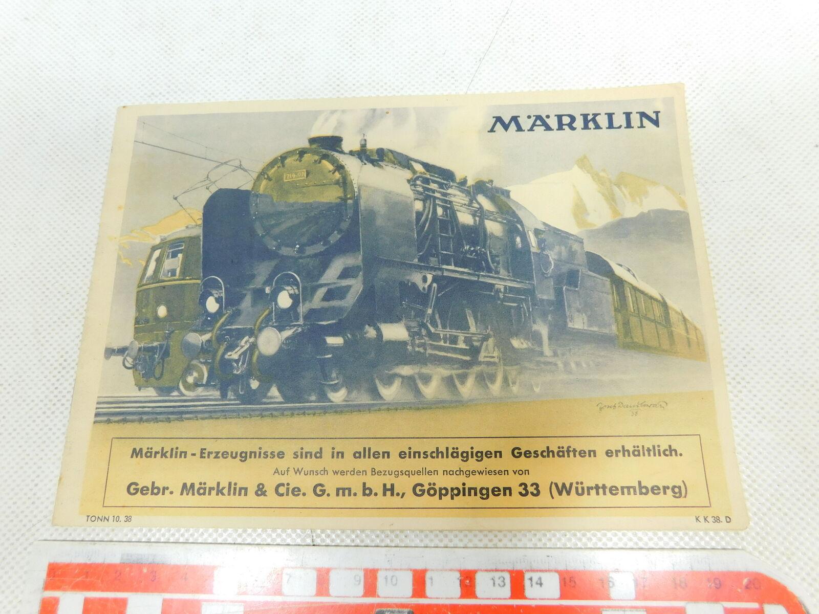 BW3320,5   marklin 00  Scala 0 Ecc. Catalogo K 38. D  Tonn 10. 38 di