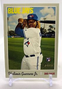 Vladimir Guerrero Jr. 2019 Topps Heritage BASE ROOKIE RC #504 Blue Jays MINT