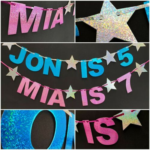 PERSONALISED HAPPY 1st BIRTHDAY PARTY BANNER First Any age bunting 21st 40th 2nd