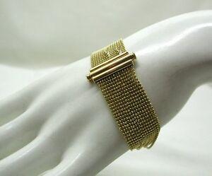 Beautiful-Stylish-9ct-Gold-Multi-Strand-Bracelet