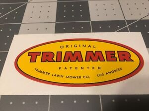 """Original Trimmer Los Angeles Mower Decal Reproduction 3"""""""