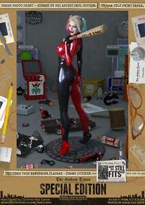 Harley-Quinn-SEXY-It-Still-Fits-Suicide-Squad-Sexy-Gotham-Signed-A3-Print-Batman