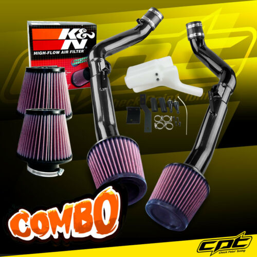 08-13 G37 2dr//4dr 3.7L V6 Black Cold Air Intake K/&N Air Filter