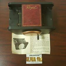 Vintage DIY Royal Card Shuffler w/Box Metal Hand Crank Spades Poker Casino