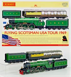 HORNBY 00 GAUGE - R2953 - FLYING SCOTSMAN USA TOUR 1969 TWIN TENDER/OBSERVATION