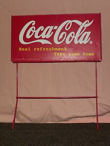VINTAGE-COKE-SODA-1998-COCA-COLA-CO-REAL-REFRESHMENT-METAL-ADVERTISING-SIGN