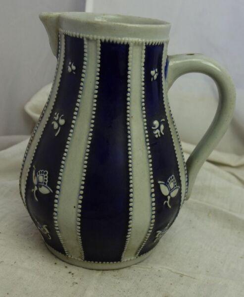 2019 Neuer Stil Antiker Keramik Krug Kobalt Salzglasur Art Deco Westerwald