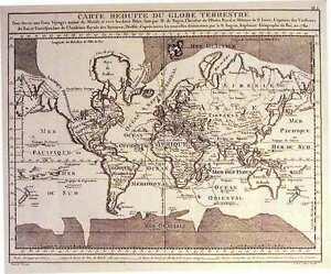 Antique-map-Carte-reduite-du-Globe-Terrestre