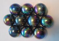 "10 Rainbow Highly Magnetic Hematite ¾"" Round Spheres, Aka Zinger Magnets"