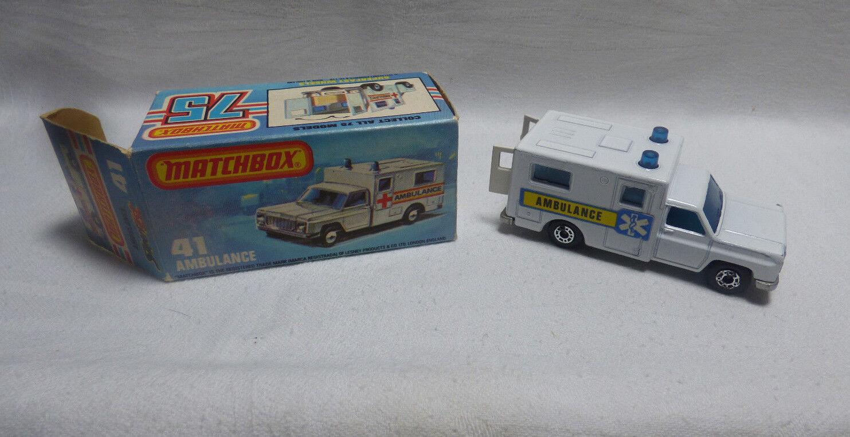 nuevo listado Matchbox Matchbox Matchbox súperfast-MB 41 Ambulance azul Aufkl made in England-Embalaje original -  Felices compras