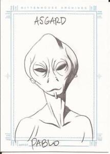 Stargate-SG-1-Season-5-Sketchafex-Sketch-Card-of-the-Asgard-by-Pablo-Raimondi