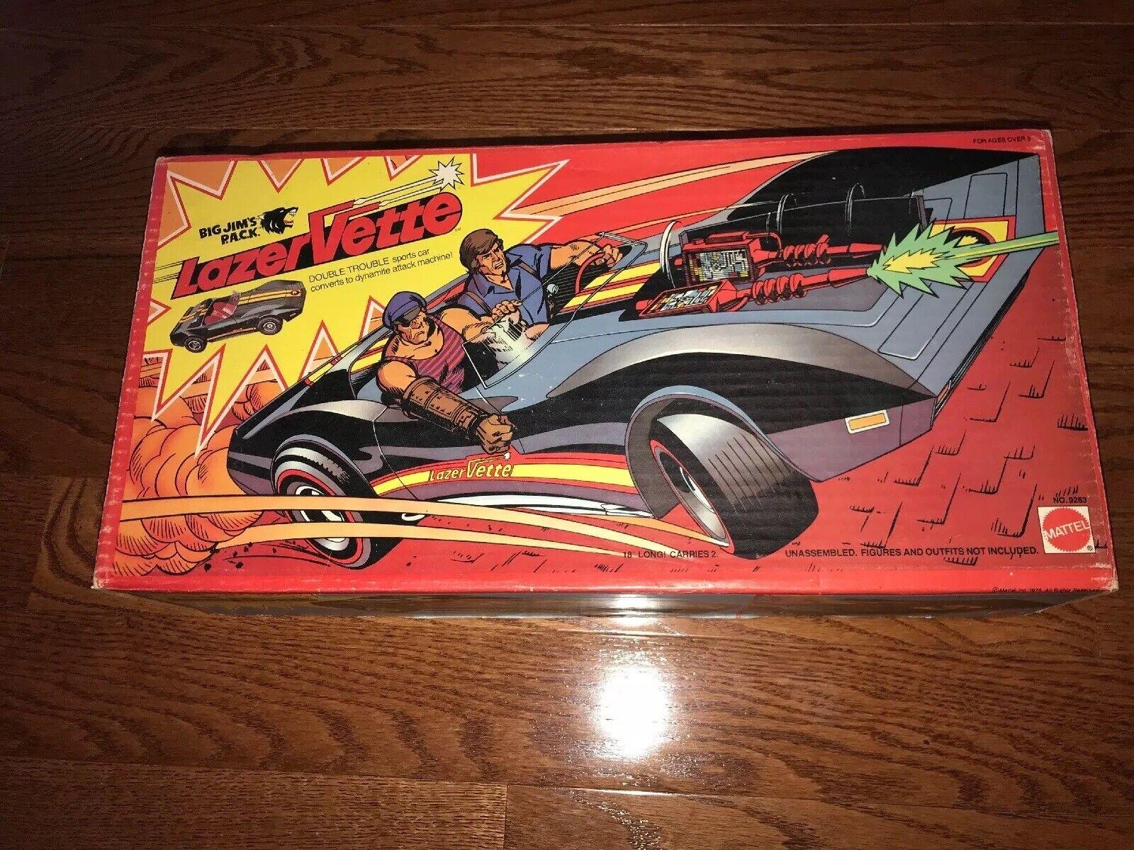 Vintage BIG JIM'S P.A.C.K.  - 1975, Mattel, Lazer Vette, w Original Box Scarce