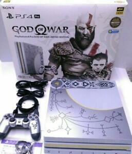 Details About Sony Playstation 4 Pro God Of War Limited Edition Console From Japan Rare Used
