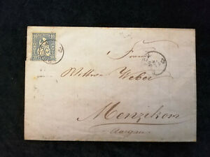 Schweiz-Brief-Stempel-1867-Aargau-Zurich-Sitzende-Helvetia-10-C-Nr-26