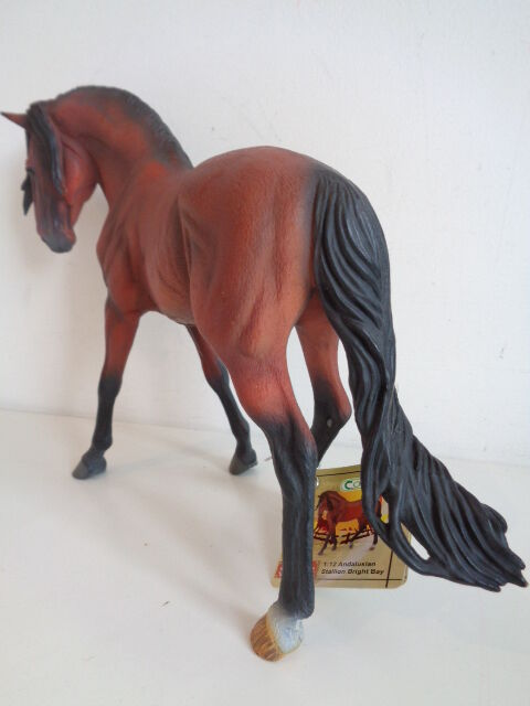 BRIGHT BAY ANDALUSIAN STALLION LARGE 1 12 SCALE HORSE TOY TOY TOY MODEL - COLLECTA 88630 03afc4