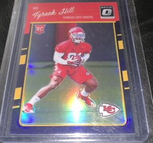 2016 Tyreek Hill Donruss Optic Silver Holo Prizm #117 Rookie RC Card Chiefs