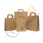 thumbnail 2 - Kraft Paper SOS Carrier Bags Brown with Flat Handles /Takeaway /Gifts Quick Post