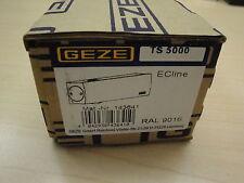 Obentürschließer GEZE TS 5000  ECline weiß mit Gleitschiene + Montageplatte
