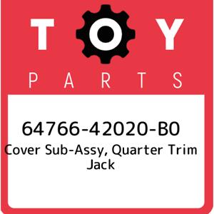 New Genuin 64766-42020-B0 Toyota Cover sub-assy quarter trim jack 6476642020B0
