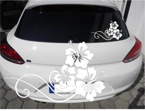 Autoaufkleber KFZ  Aufkleber  Autotattoo Tattoo Tuning Hibiskus 2 Hawaii Blumen