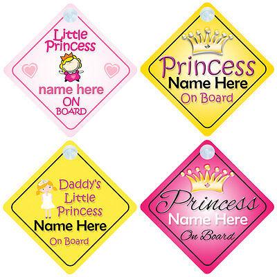 mybabyonboard Princess001 Panneau de voiture pour enfants et filles Motif princess001