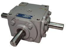 40 Hp Right Angle Bevel Gearbox With 3 Keyed Shafts 11