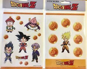 Dragon-Ball-Dbz-Goku-Gohan-Buu-Trunks-Vegeta-amp-Dragon-Balls-Chibi-Sticker-Sets
