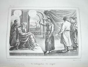 BIBLICA-INTERPRETAZIONE-DEI-SOGNI-ANTICA-RARA-LITOGRAFIA-NAPOLI-WENZEL-039-800