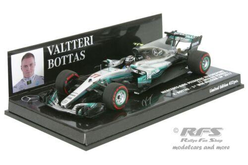 Mercedes f1 w08-Bottas-fórmula 1 gp rusia 2017-1:43 Minichamps 417170477