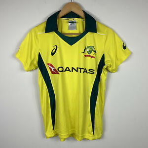 Cricket-Australia-Kids-Jersey-Top-Sz-12-Short-Sleeve-Polo-Asics-Official-Product