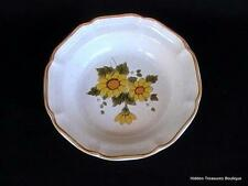 """Mikasa """"Sunny Side"""" 1 Rim Soup Cereal Bowl Garden Club Yellow Flowers EB802"""