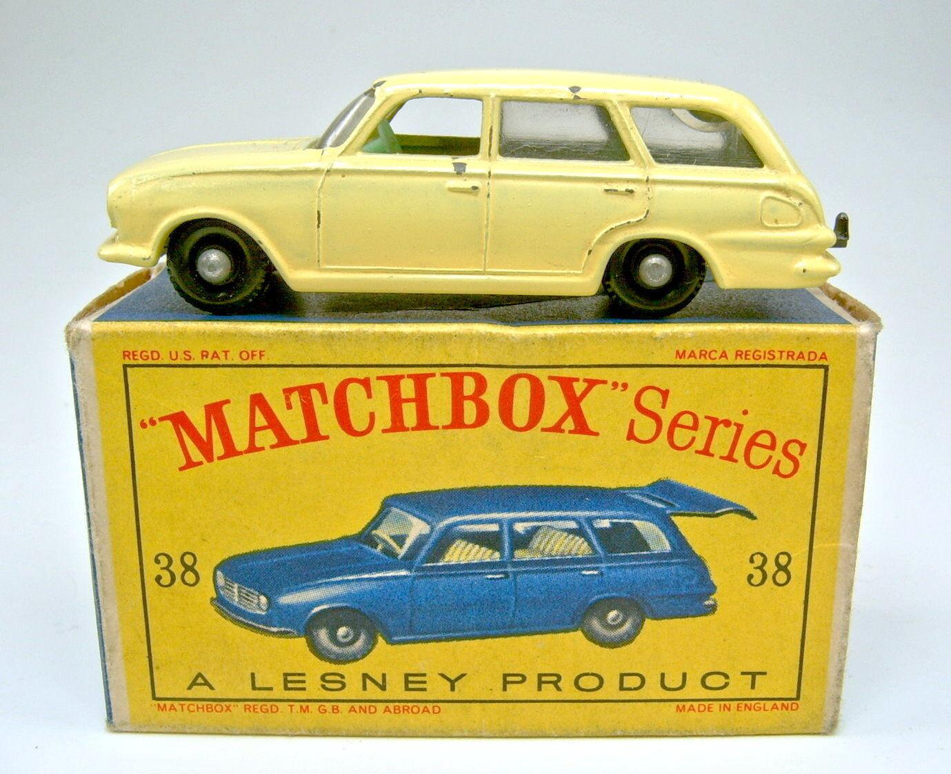Matchbox - rw 38b vauxhall victor gelb gr ü ne waren auf  d  - box