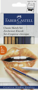114004-Faber-Castell-Classic-6-Piece-Sketch-Set-with-pastel-amp-graphite-pencils