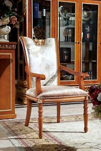 8-Chairs-Set-Dining-Room-Designer-Wood-Antique-Style-Baroque-Rococo-E62
