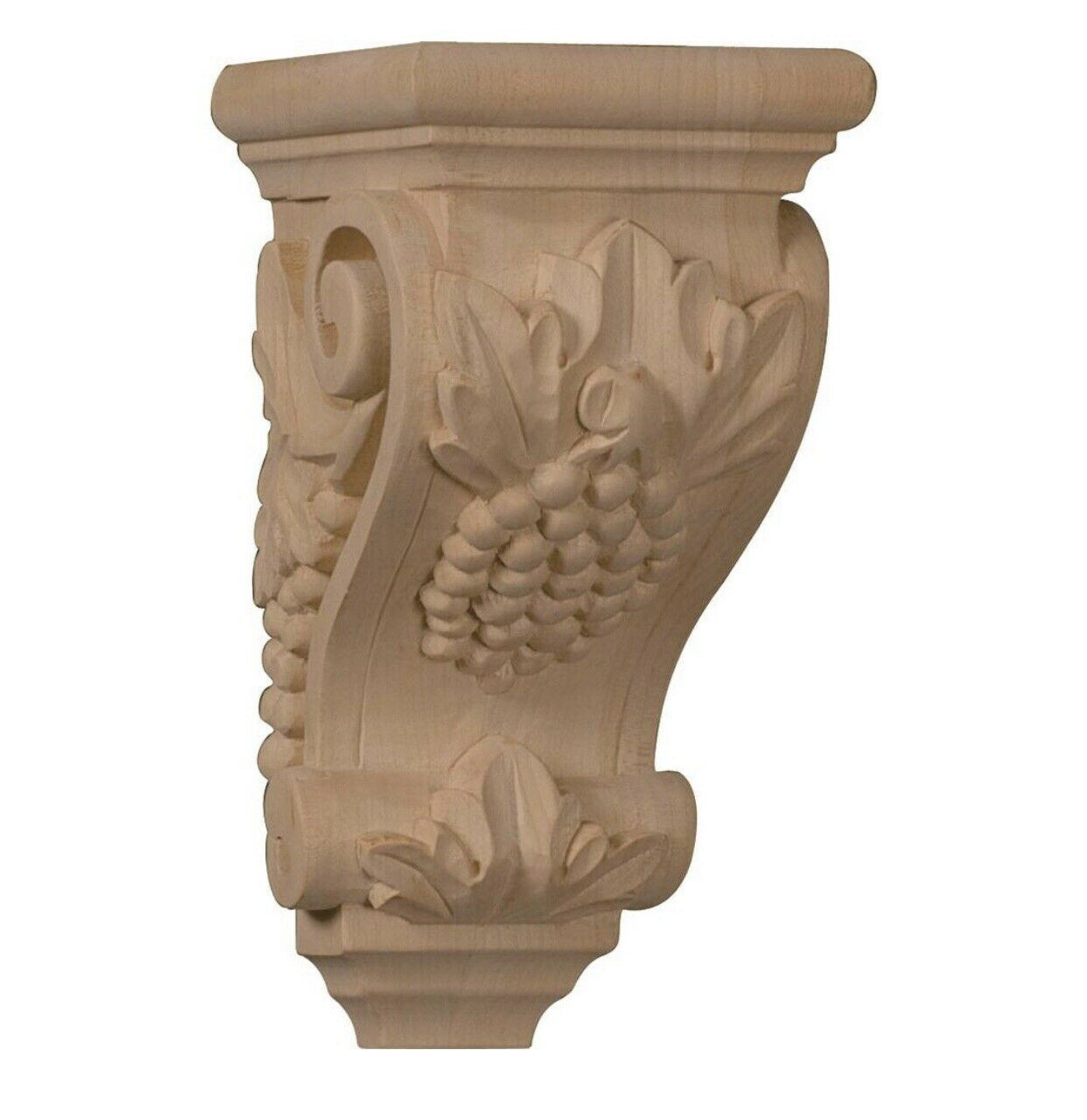 3 1 2 W x 4 D x 7 H Small Grape Corbel, Mahogany