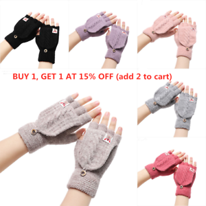 Warm-Winter-Elastic-Thicken-Warm-Half-Capped-Fingerless-Mittens-Knitted-Gloves