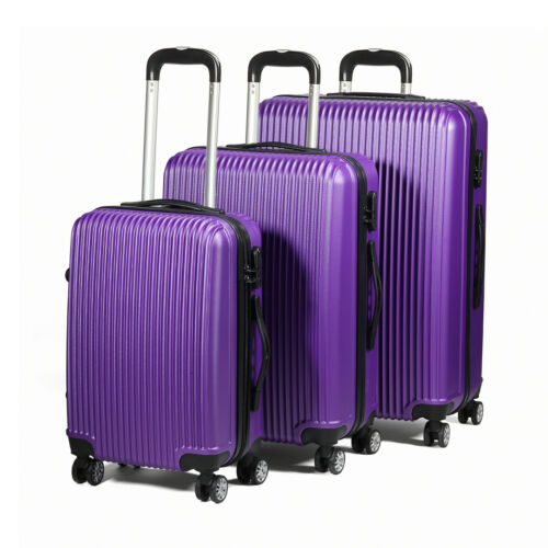 S//M//L Cabin Size Included 3 Piece Lightweight Extra Strong ABS Luggage Set